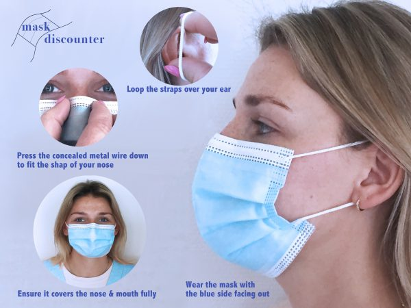 High quality face masks with three layers that protects you and others against viruses like Covid-19 corona. Hoge kwaliteit mondkapjes die u en anderen om u heen beschermen tegen het Covid-19 (corona) virus
